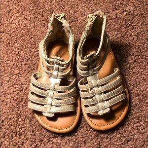 Cherokee gold sandals toddler us 6